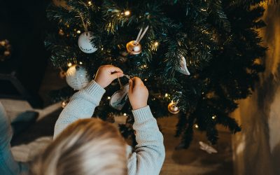 How to take DIY Christmas photos around your tree